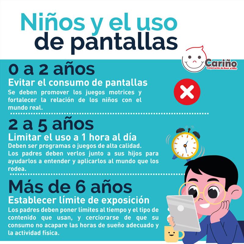 ninos y el uso de pantalla